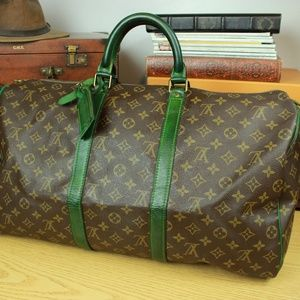 "Louis Vuitton Authen 20"" Custom Duffle Travel Bag"